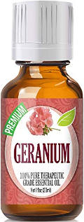 Geranium essential oil for acne